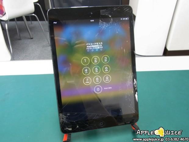 iPad mini 初代 ガラス割れ修理レポート