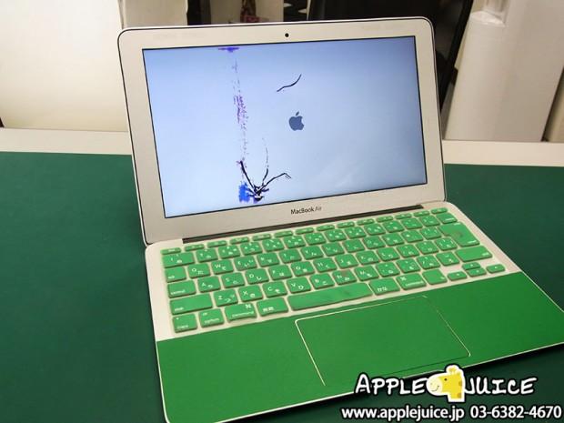 MacBook Air A1370 液晶割れ 液晶パネル交換修理