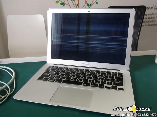 Macbook Air 13inch 液晶割れ 液晶パネル交換修理
