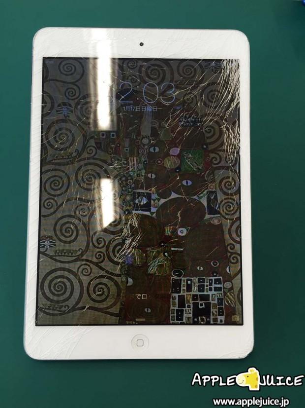 iPad mini 画面割れ フロントパネル交換修理
