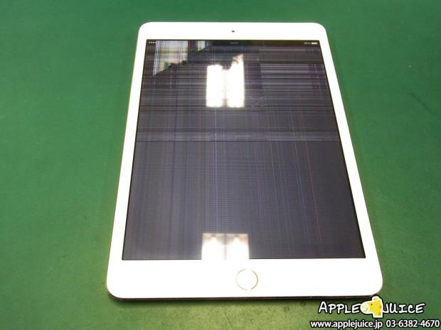 iPad mini 3 液晶表示不良 ディスプレイ制御用ICチップ交換修理
