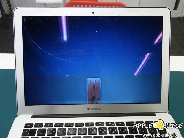 Macbook Air 13inch 液晶表示不良 パネル交換修理
