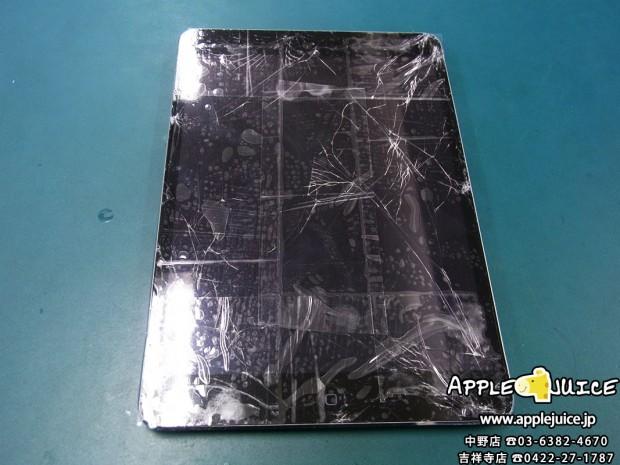 【iPad mini 2】埼玉県鶴ヶ島市からのご依頼 落下されてガラスを割ってしまった