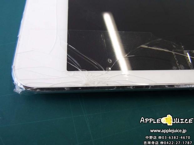 iPad miniのガラス割れ修理は約60分で即日お返し、返送できます
