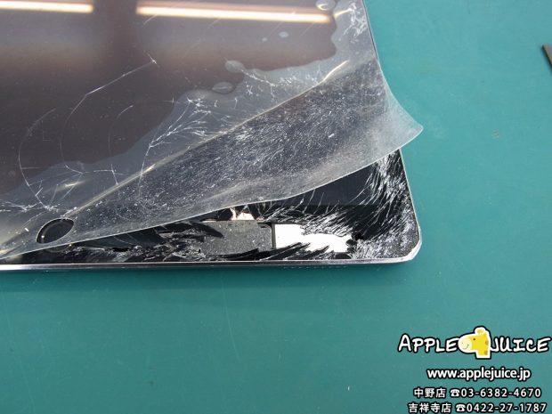 iPad Pro12.9インチ 画面割れ 角の凹み