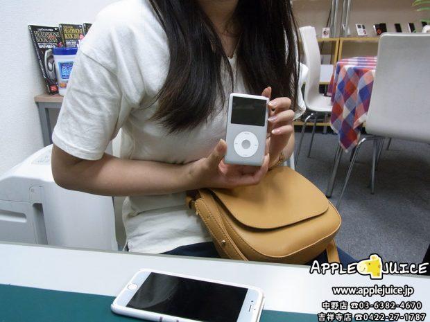 iPodClassic イヤホンジャック修理後の写真