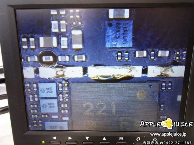 レッドスクリーンになり起動不良になったiPhone6 黒