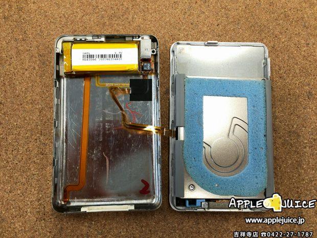 iPodClassic バッテリー交換 修理中