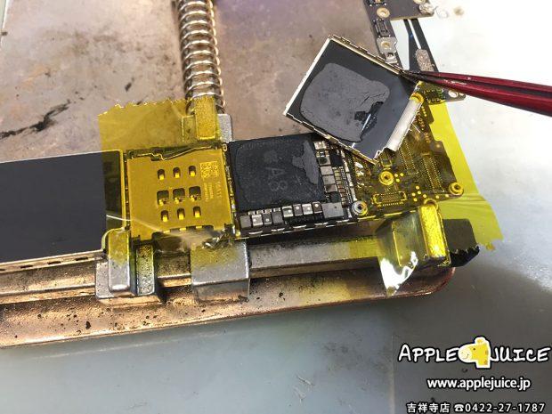 同業者様よりiPhone6 原因不明の起動不良 コンデンサーショート 基板修理 2016/12/11