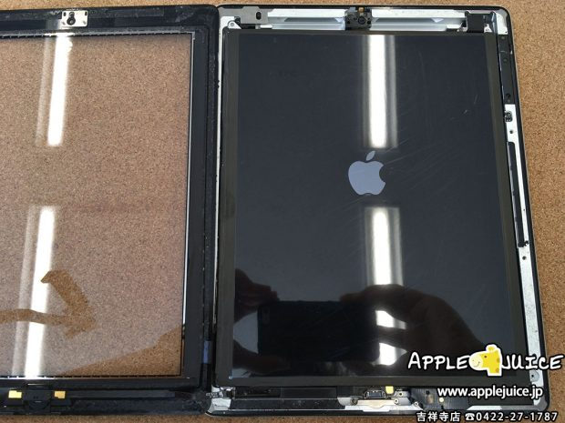 iPad4 バックライト点灯不良 液晶表示不良