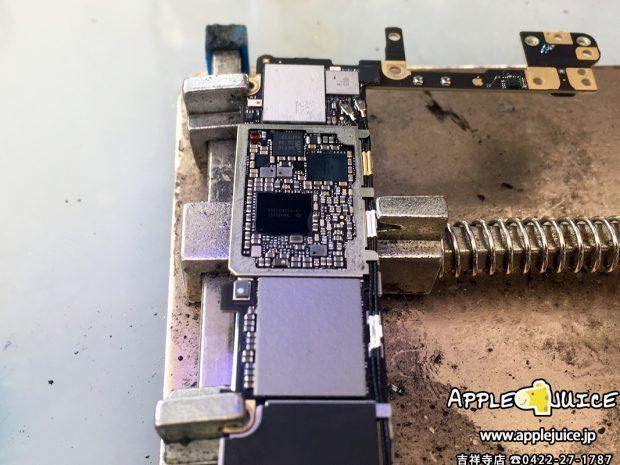 iPhone6s 急に液晶が映らなくなった。基板(基盤)損傷修理 2017/01/07