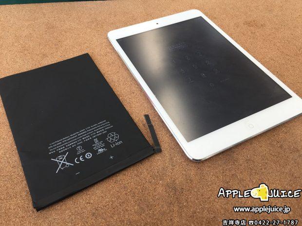 来店でのご依頼 iPad mini バッテリーの持ちが悪い症状 2017/02/27