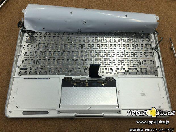 MacBook Air 11inchのキーボード交換の風景