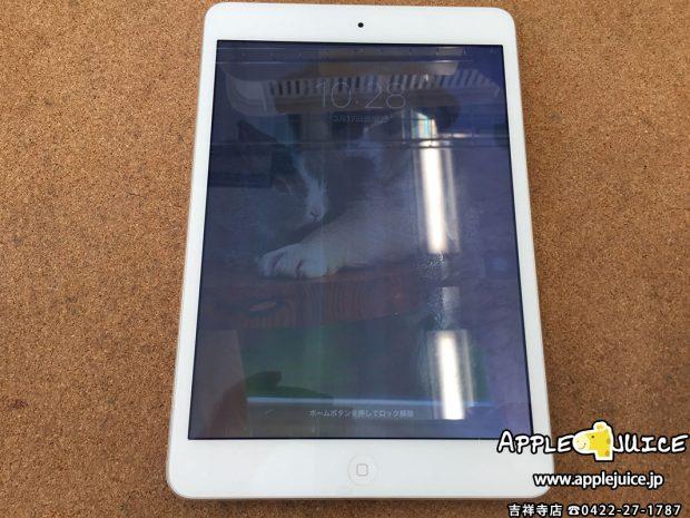 iPad mini2の液晶画面に白い線が入る⇒液晶画面交換
