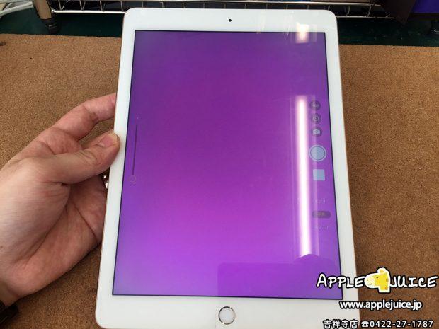 同業者様からのご依頼 iPad Air2のアウトカメラが紫色に表示される 2017/03/20