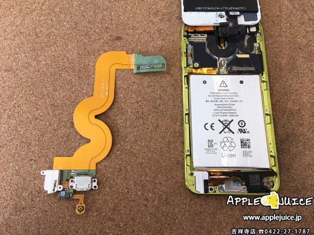 iPod touch 5世代で、ホームボタンが反応しない症状 同業者さまのご依頼 2017/03/31