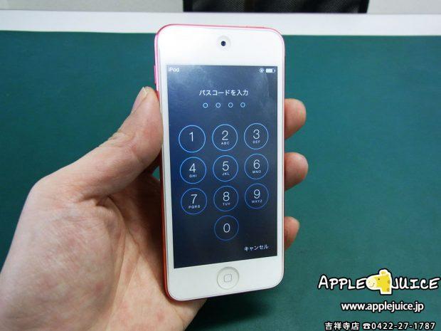 iPod touch 5世代 のホームボタンが陥没して戻らなくなってしまった症状の修理