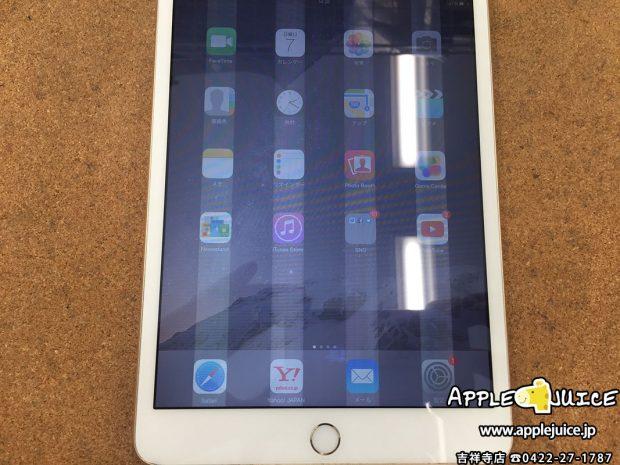 iPad mini 2、3世代で白い縦線が出た場合は液晶を交換するしか対処方法がありません