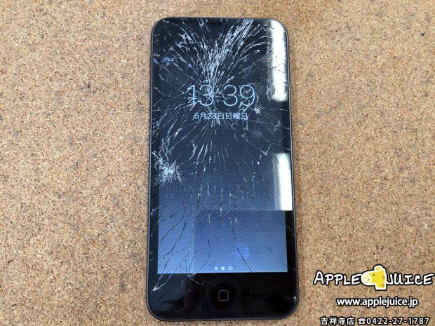 iPod touch 6世代のガラス交換修理 同業者様からのご依頼 2017/06/07
