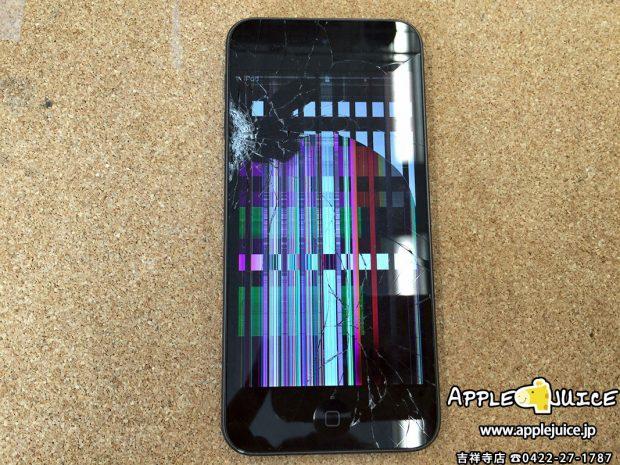 iPod touch 6世代 液晶パネル割れ交換修理レポート (立川市 S様)