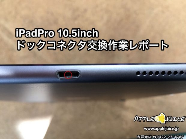 iPadPro 10.5inch ドックコネクタ(Dock)交換修理作業レポート(神奈川県 H様)