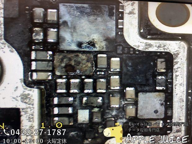 水没し基板損傷したiPhone8 その2