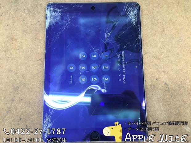 【iPad Air 2の液晶修理】画面割れ、液晶漏れなどアイパッドのLCDの交換ならAppleJuice!